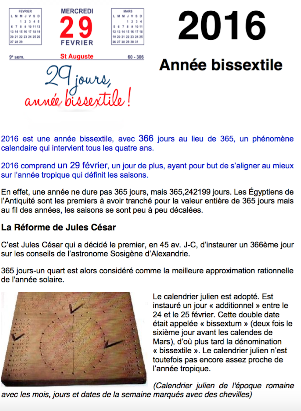 annee bissectile