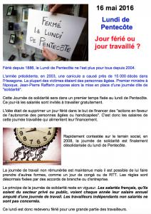 FÉRIÉ OU PAS : LUNDI DE PENTECÔTE…   Noz'infos